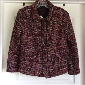 TALBOTS Multi-Colored Tweed Blazer NEW